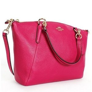 Coach Leather Pink Cross Body Bag